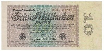 Ten Milliards Marks German banknote issued in 15.09.1923 A xf