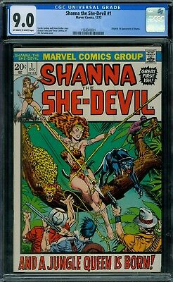 Shanna the She Devil 1 CGC 9.0 - OW/W Pages