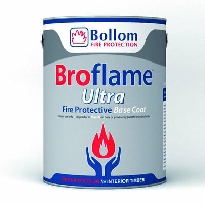 Bollom Broflame Ultra Base Coat For Timber Fire Resistant Paint White 5L