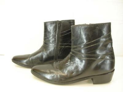 bc65b5a45 Stacy Adams Santos Mens Black Leather Cuban Heel Full Zip Ankle Boots  Clothing, Shoes & Accessories Boots