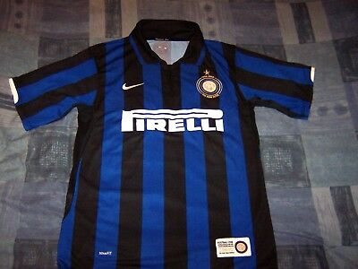 Official Inter Milan Home Football Shirt Jersey Medium Man 100 Anniversary.