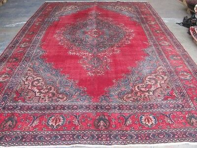 A MARVELLOUS OLD HANDMADE TABRIZ AZERBAIJAN PERSIAN XL CARPET (460 x 290 cm)