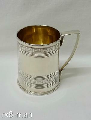 1803 RARE ANTIQUE GEORGIAN SOLID STERLING SILVER CHRISTENING CUP MUG  - 109g