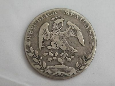 1888 Mexico Large Silver One Peso Coin