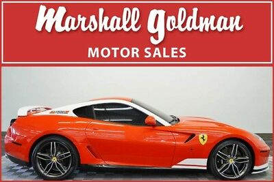 2011 Ferrari 599 Base Coupe 2-Door 2011 Ferrari 599 F60F1 Alonso Rosso Scuderia Pearl w/Nero, only 6,065 mi