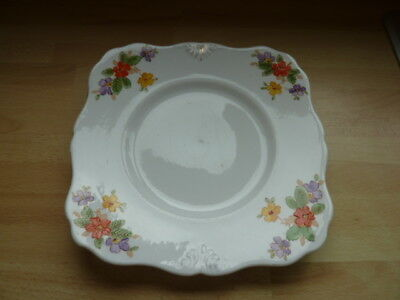 Plant Tuscan China Cake ~ Sandwich Plate  ~ Orange Floral Decoration