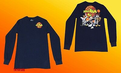 New Space Jam Bugs Taz Looney Tunes Vintage Long Sleeve 1996 Mens T-Shirt