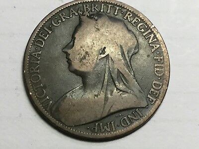 GREAT BRITAIN 1901 1 Penny  coin circulated