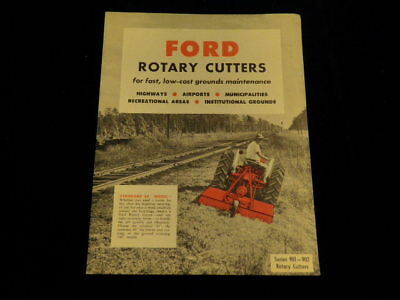 1960 Ford Rotary Cutter Series 901 902 Original fold out Brochure Vintage   Q452