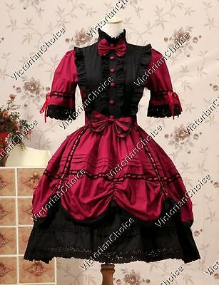 Victorian Gothic Lolita Dress Punk Cosplay Theater Period Clothing Wear 229 L