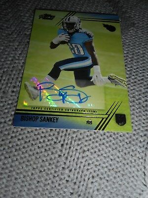 Signed Football Card Bishop Sankey Topps Prime Certified Autograph Titans 2014