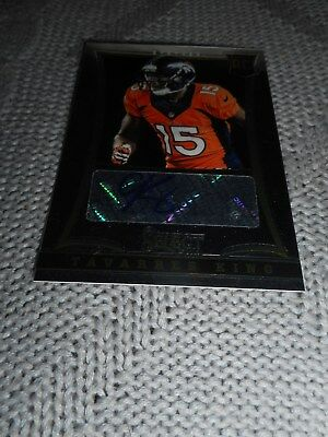 Signed Football Card Tavarres King Broncos Serial #d Panini Rookie Autograph NFL