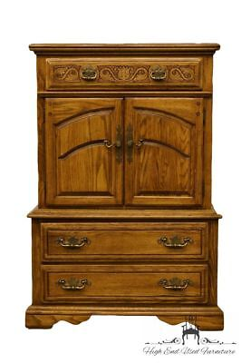 "AMERICAN DREW Country French Solid Oak 41"" Door Chest"