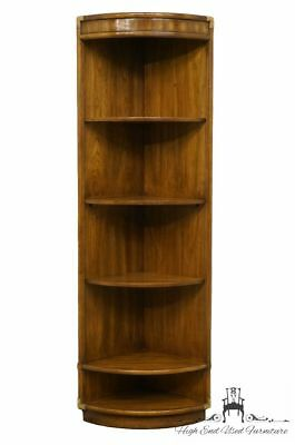 DREXEL HERITAGE Accolade Collection Campaign Style Corner Bookcase Wall Unit ...