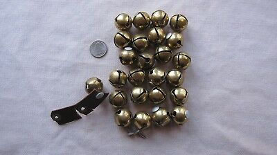Lot of 25 Vintage Brass Sleigh Bells in Good Condition 1 ""