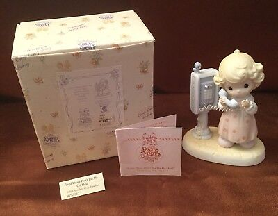 Precious Moments Lord Please Don'T Pur Me On Hold 1998 Members Only Figurine