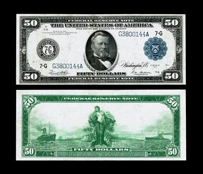 Fr. 1051 $50 1914 Federal Reserve Note~~EXTRA FINE