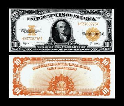 Fr. 1173~~1922 $10.00 ~~. LARGE SIZE GOLD CERTIFICATE~~ALMOST UNCIRCULATED
