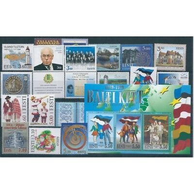 1999 Estonia Eesti Year Complete 22 Values And 1 Bf New Mnh Mf40549