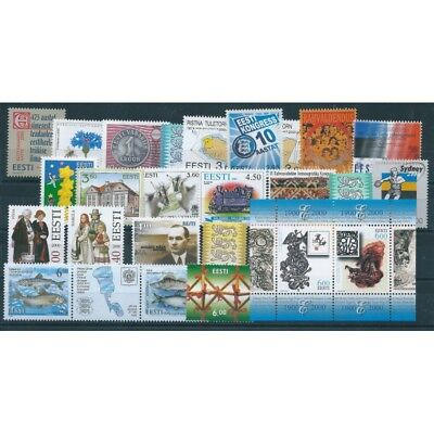 2000 Estonia Eesti Year Complete 27 Values And 1 Bf New Mnh Mf40550