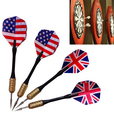 3pcs/set of Steel Needle Tip Dart Darts With Nice Flights Flight UK/US Flag