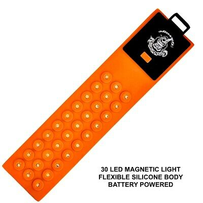 Gas Monkey® 30 LED Magnetic Flex Light - Flexible Silicone Body -Battery Powered