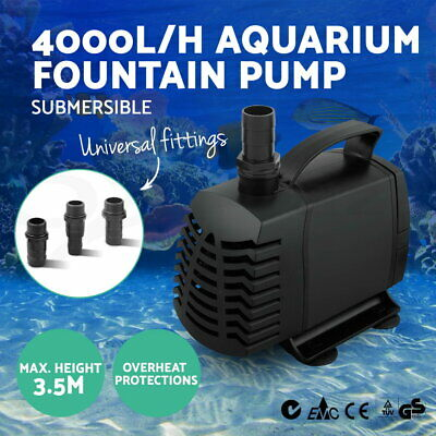 Giantz 4000L Submersible Aqua Aquarium Fountain Pond Marine Water Pump Fish Tank