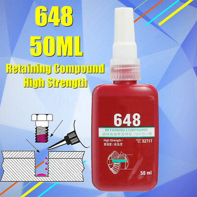 50ml 648 Retaining Compound Slip Fast Primerless Glue for Oil Spilling Loosen
