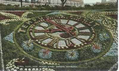 Floral Clock,west Princes Street Gardens,edinburgh,valentine,66187,postcard