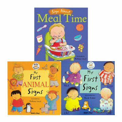 Anthony Lewis Baby Signing 3 Books Collection Set Meal Time, My First Signs NEW