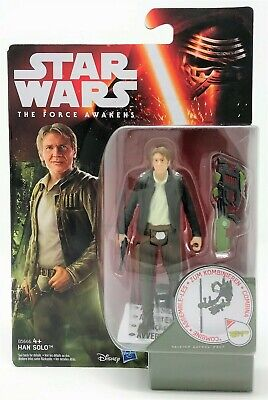 "Star Wars Force Awakens Han Solo Forest Mission 3.75"" Action Figure Toy"