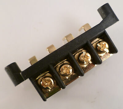 In Car Audio Terminal Block 4 Way Right Angled PCB Mount GOLD PLATED OM0449f