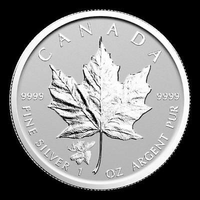 1 Ounce Silver Privy Moss - Moose Maple Leaf 2017 Canada Reverse Proof
