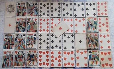 Antique  Playing Cards -  Standing Courts - 37 cards