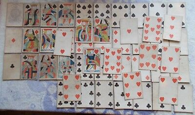 Antique Playing Cards - Hunt and Sons  50 cards  c.1830/40