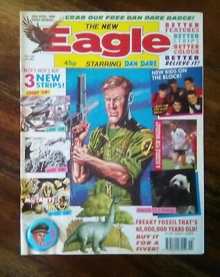 Eagle Comic (28th April 1990) Free Dan Dare Badge (Free P&P) Now Only £5.99