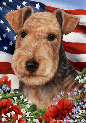 Garden Indoor/Outdoor Patriotic I Flag - Lakeland Terrier 162341