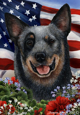 Garden Indoor/Outdoor Patriotic I Flag - Blue Australian Cattle Dog 160721