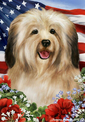 Garden Indoor/Outdoor Patriotic I Flag - Cream Havanese 160971