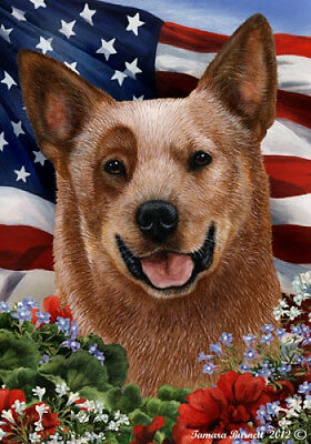 Garden Indoor/Outdoor Patriotic I Flag - Red Australian Cattle Dog 162811