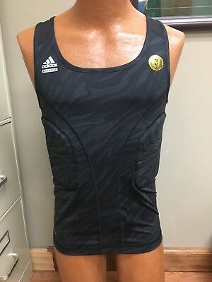 d3cb9ac8a65406 MEN s Adidas Techfit COMPRESSION Black Fitness Climalite Sleeveless Shirt XL