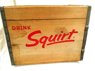 Squirt wood Soda Crate 16 x 12 x 11 1/2-Ferndale MI