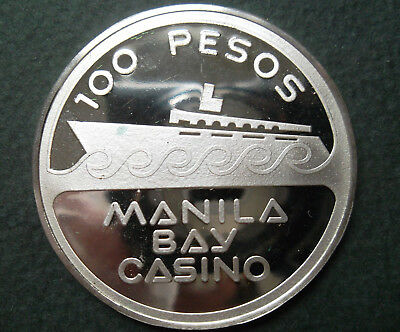 """Manila Bay Casino - Franklin Mint .925 sterling silver """"Official Gaming Coin"""""""