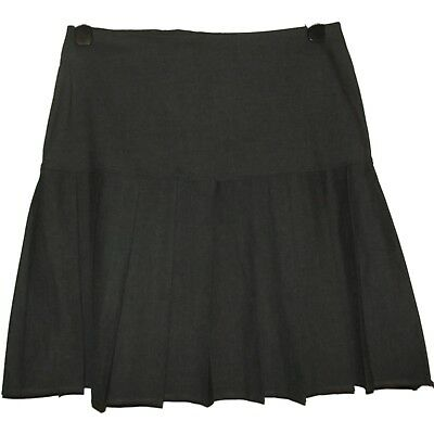 NEW GIRLS EX BHS GREY A LINE KNIFE PLEATED SCHOOL SKIRT AGE 13 - 16 years (QQ)
