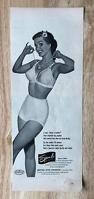Original 1942 Print Ad Munsingwear Foundettes Girdle Bra Undergarments Art Colours Are Striking Collectibles 1940-49