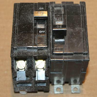One  Square D QOB230 2 Pole 30 Amp BlkFce Circuit Breaker Bench Tested Guarantee
