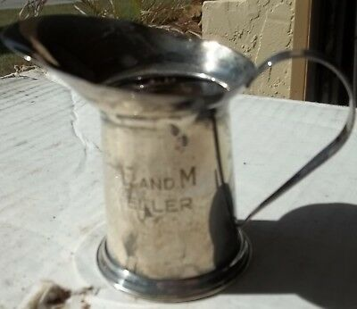 Old Cartier Sterling Silver Dedicated Creamer Pitcher Marked 2 oz. Cartier