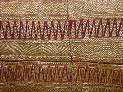 Wonderful Antique Unopened !!! Tapis Goldbrocade Sumatra Indonesia ****hg****