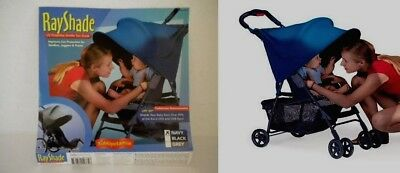 new RAY SHADE navy blue UV Sun Stroller Shade Canopy Kids Baby Protection RaySha