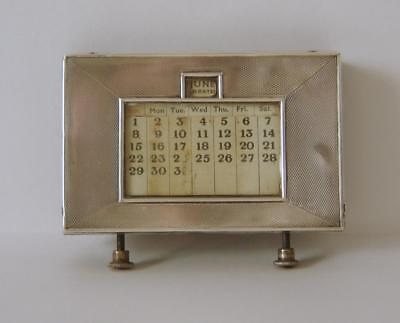 A Sterling Silver Mounted Calender Working But With Some Faults Birmingham 1939